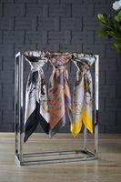 100% pure custom printed silk square scarves