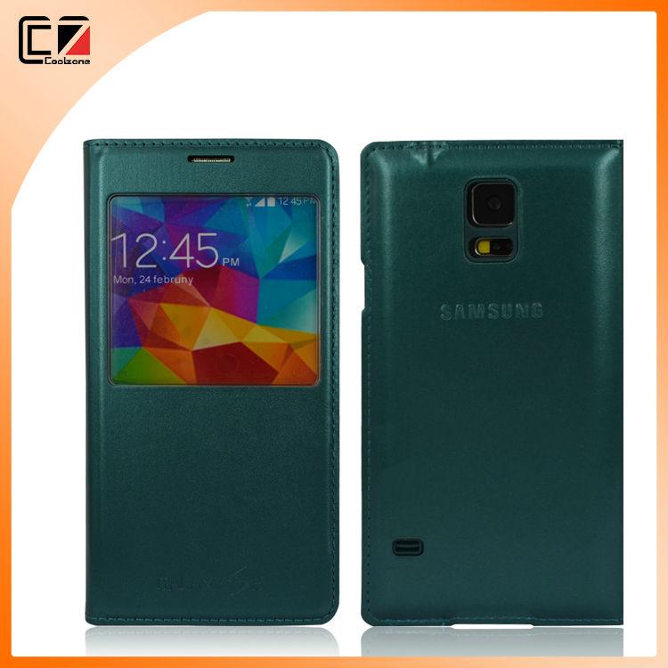 PU Flip Case for Samsung Galaxy S5,high quality PU Leather Flip Case for Samsung S5