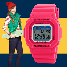popular teenage fashion watches,sport digital watch with fashion dresses for women