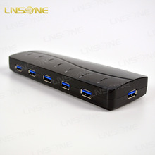 2014 hot China wholesales high grade usb hub driver 7 ports ,usb 3.0 hub,support LED light display