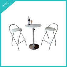 round base white mini bar table