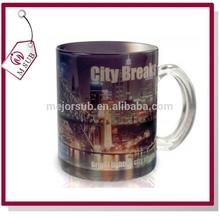 11oz glass mug for sublimation with coustom design