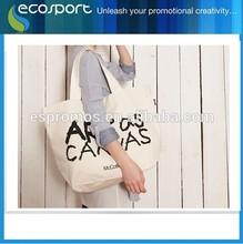 2014 custom printed canvas tote bag/Promotional Tote Bag