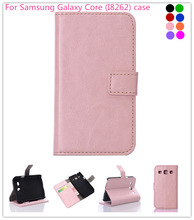 For Samsung Galaxy Core Case,For Samsung GALAXY Core I8262 Smart Phone Stand Folio Leather Sleeve Cover Case