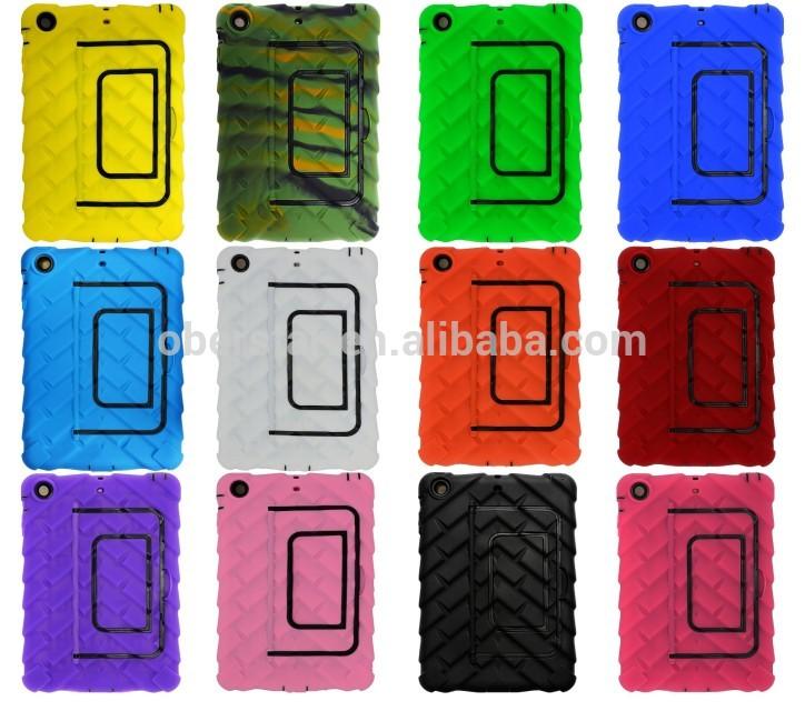 New product Heavy duty tyre silicon hard case for ipad mini