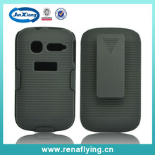 rugged combo hard stand case cover belt clip holster for alcatel one touch c1 4016 4015