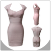 new arrival cap sleeve pink dress fashion sheath women dress rayon bandage dress
