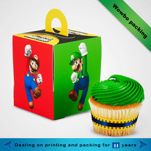 Lovely colorful beautiful design small take away cake paper box