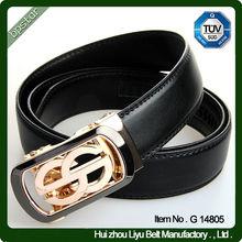 Genuine Leather Material Automatic Men Slide Belt