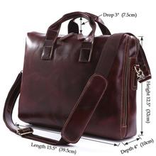 7167Q Genuine leather Briefcase Document Messenger Bag for Men