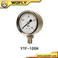 Alle edelstahl hochtemperatur-manometer/DMS