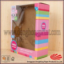 Made in China see though packaging corrugated toy box