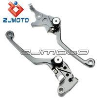 Dirt Bike 4 Finger Long CNC Pivot Adjustable Brake Clutch Lever Made Of Aluminum Alloy For Off Road Motorcycle KAWASAKI KLX150S