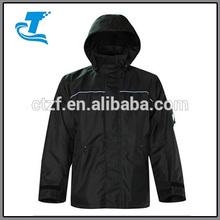 2014 Hottest Men's Black 300D Rip Stop Rain Jacket