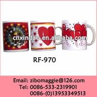 Professional U Shape Porcelain Promotional Valentine's Gift Tea Cups Costume