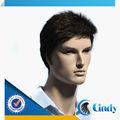 Qualidade premium 3-30inch baixo preço virgem remy indiano peruca de cabelo natural para os homens de perucas preço