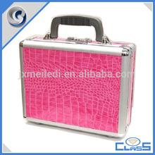 MLD-GC181 Pink Alligator Leather Popular Beauty Aluminum Gun Storage Case