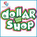 Una tienda de dólar, menos de un dólar, dólar de artículos de la tienda