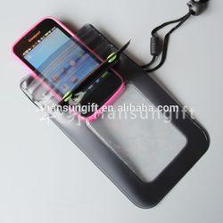 transparent pvc waterproof bag/pvc phone waterproof case