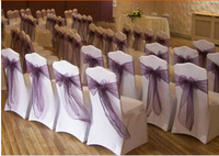 2014 hot selling cheap spandex wedding chair covers with sash