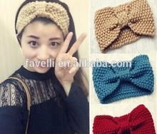 cinched knit headband