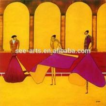 High Quality Handmade Impressionist Espana Matador Oil Painting