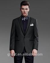 Wedding dress blazer for men 100% wool one buttons grey Jacket