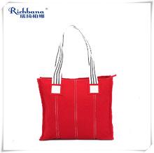Custom printed trade show fashion tote canvas bag for wholesale
