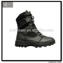 2014isoอ่อนโยน8นิ้วสีดำหนังวัวชั้นนำระดับเราทหารรองเท้ายุทธวิธี/ตำรวจรองเท้า/สหราชอาณาจักรกองทัพรองเท้า