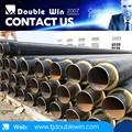 Material de estructura recta prefabricadas enterradas aislante de calor del tubo/tubería