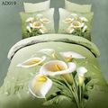 Atacado 2014 novo design home goods flor 3d impresso colchas de hotel