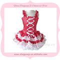 de haute qualité 2014 design de mode rouge et blanc robe de mariée