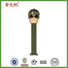 Collcetible resin funny style pez army man bobblehead dolls