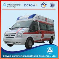 Ford Brand Minivan 15 Seats Benz High Roof ICU Ambulance