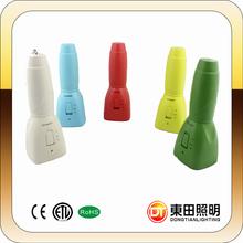 Cheap durable bright five color optional LED flash light, 4w led fashlight