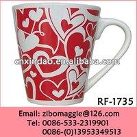 V Shape Custom Made Hot Sale Cheap Promotion Ceramic Beer Mugs for Holiday Gift