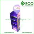 Quatro bandejas de display de papelão ondulado, cremalheira de exposição ondulado, plástico corrugado de exibição