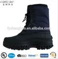marina de guerra de los hombres al aire libre de encaje hasta los zapatos de trabajo baratos botas para la nieve