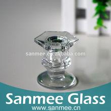 Shinning Glass Candelabra For Table Decor