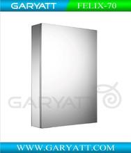 Aluminium Bathroom Medicine Mirror Cabinet Soft Closing With Glass Shelf And Switch Socket