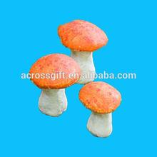 Miniature Fairy Garden Orange Mushrooms Set Of 3