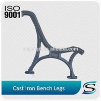 Outdoor cast iron park bench legs