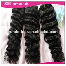 "Queen hair products BRAZILIAN HUMAN VIRGIN HAIR Deep Wave #1B Natural Black 100% human hair 3pcs lot,8""-30"" Grade 6A"