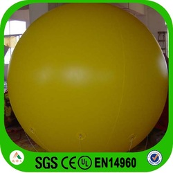 yellow balloon inflatable electric balloon air pump fabric