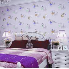 Childern Bedroom Decoratiion Girls Kids Kitty Wallpaper Wall