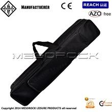 3 Compartments Portable Nylon Strap Zipper Closure Fishing Pole / Rod Carrying Bag