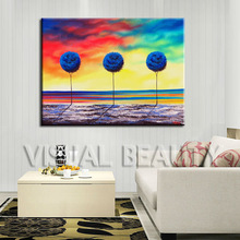 Modern Decoration Lucky Tree Oil Painting on Canvas