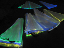 New fashion led luminous fiber optical fabric lighting cloth with RGB changeable colors