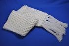 fashion white handmade knit scarves