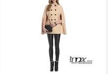 2014 Latest Russian Women Coat Double Button Thin Wwoolen Coat For Lady